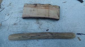 La planche (en haut) et la drille (en bas)