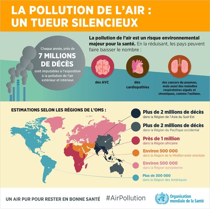 Infographie de l'OMS sur la pollution de l'air : un tueur silencieux